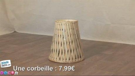 comment faire un luminaire avec une corbeille. Black Bedroom Furniture Sets. Home Design Ideas