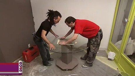 fabriquer une table en verre ronde. Black Bedroom Furniture Sets. Home Design Ideas