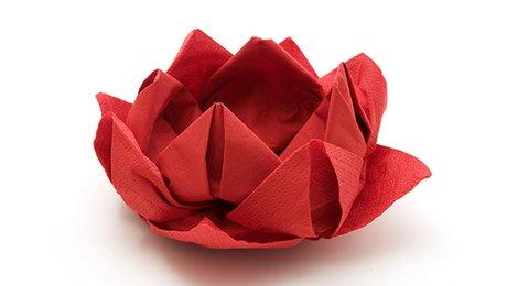 Pliage D Une Serviette En Forme De Fleur De Lotus Minutefacile Com
