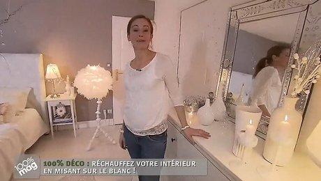 d coration en blanc d 39 une chambre pour no l. Black Bedroom Furniture Sets. Home Design Ideas