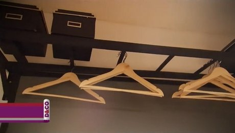 fabriquer un portant et un porte ustensiles. Black Bedroom Furniture Sets. Home Design Ideas