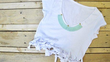 10 Façons Diy De Customiser Un T Shirt Basique Ou Vieux