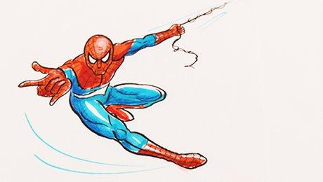 Dessiner spiderman pour un coloriage aux feutres et aux marqueurs - Dessiner spiderman ...