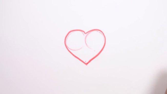 Comment dessiner un c ur avec des ailes - Un coeur amoureux ...