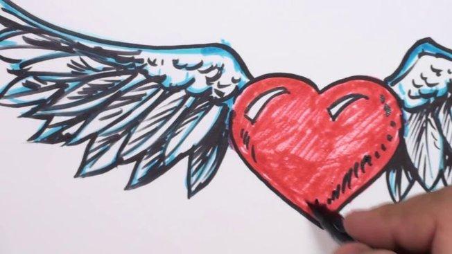 Comment Dessiner Un Cœur Avec Des Ailes Minutefacile Com