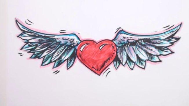 Comment Dessiner Un Cœur Avec Des Ailes Minutefacilecom