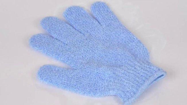 gant exfoliant pour le corps
