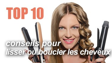 top 10 conseils pour boucler ou lisser ses cheveux top listes des vid os. Black Bedroom Furniture Sets. Home Design Ideas